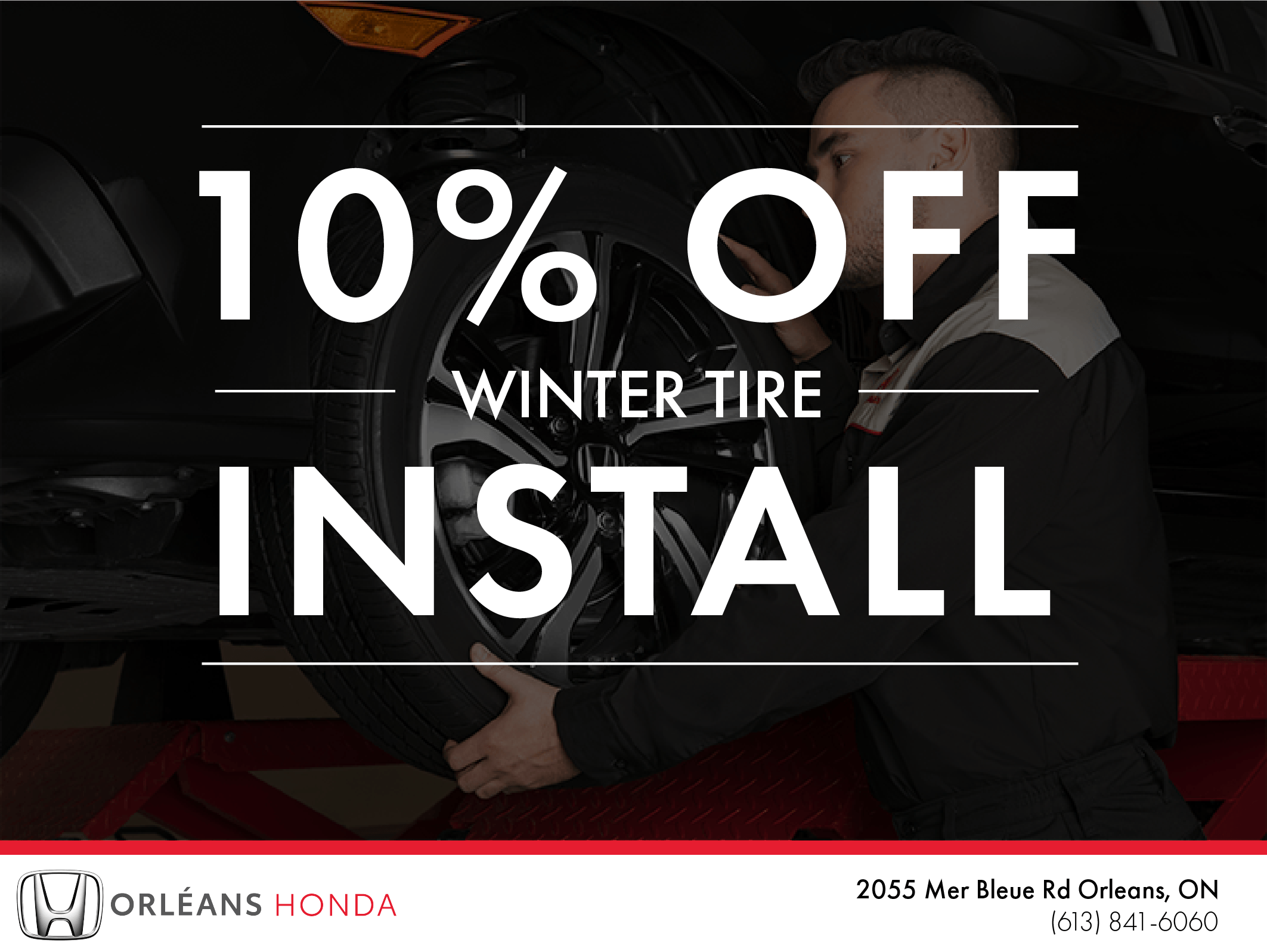 10% Off Winter Tire Install